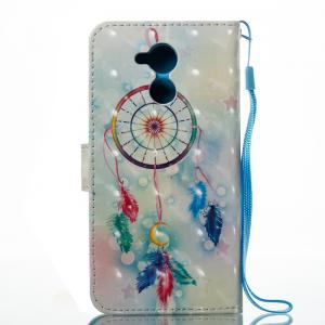 Feather Wind Chimes 3D Painted Pu Phone Case for HUAWEI Honor 6C -
