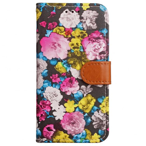 Outfits Yc Ink Painting Flowers Card Lanyard Pu Leather for iPhone X