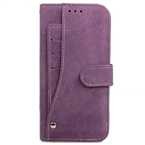 Yc Rotate The Lanyard Card Pu Leather pour iPhone 8