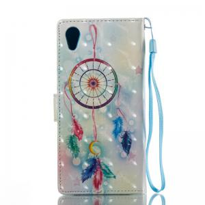 Feather Wind Chimes 3D Painted Pu Phone Case for Sony Xa 2017 -