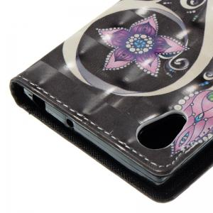 Peacock Flower 3D Painted Pu Phone Case for Sony Xa 2017 -