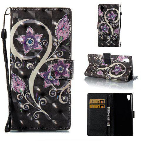 Discount Peacock Flower 3D Painted Pu Phone Case for Sony Xa 2017