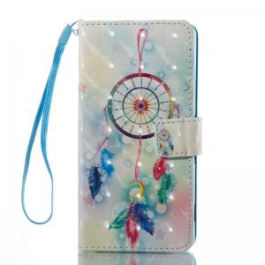 Feather Wind Chimes 3D Painted Pu Phone Case for Sony Xperia Xa -