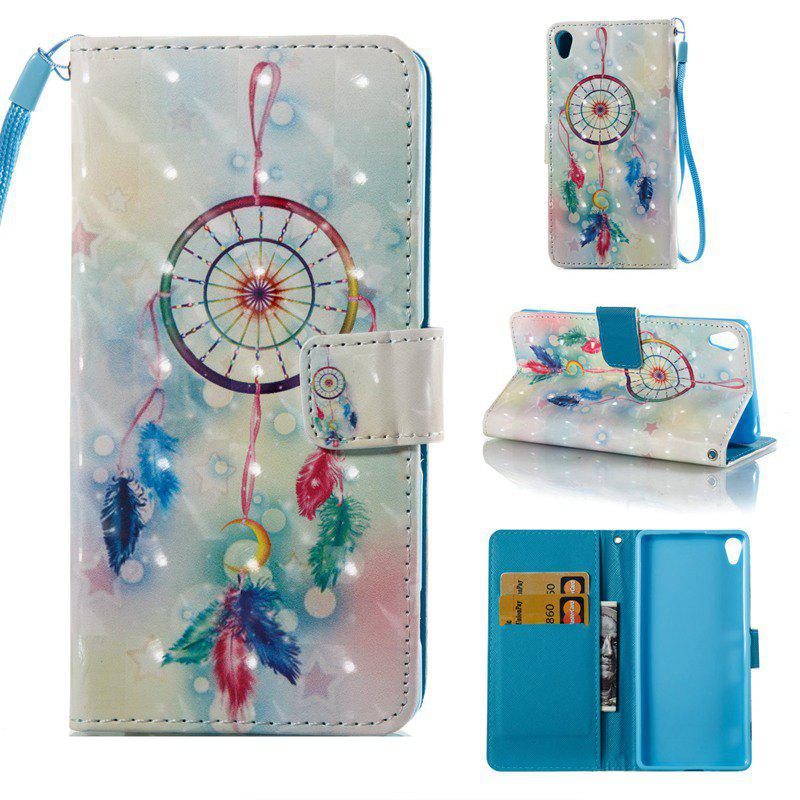 Best Feather Wind Chimes 3D Painted Pu Phone Case for Sony Xperia Xa