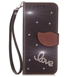 Yc Love Leaf Stick Drill Card Lanyard Pu Leather pour Haiwei 6X -