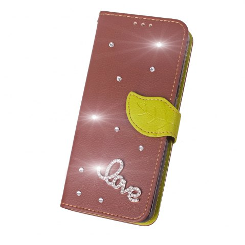 Yc Love Leaf Stick Drill Card Lanyard Pu Leather pour Sony C6