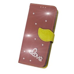 Yc Love Leaf Stick Drill Card Lanyard Pu Leather pour Sony C6 -