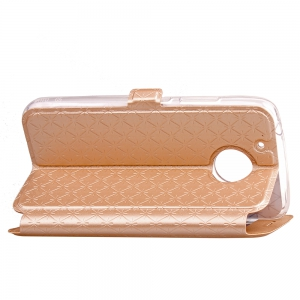 Yc Lingogwen Window Card Lanyard Pu Leather for Moto G5 Plus -