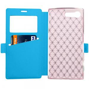 Yc Lingogwen Window Card Lanyard Pu Leather for Sony X Compact -