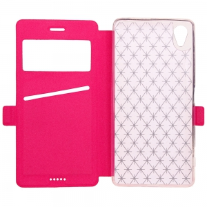 Yc Lingogwen Window Card Lanyard Pu Leather pour Sony Xa -