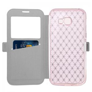Yc Lingogwen Window Card Lanyard Pu Leather pour Samsung A320 -