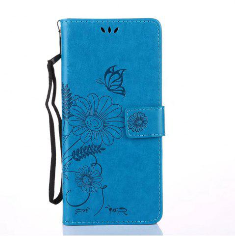 Shop Wkae Embossing Flowers PU Leather Case Cover with Lanyard and Card Slots for Samsung Galaxy Note 8