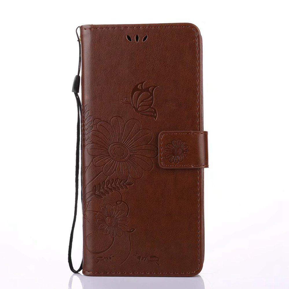 Outfits Wkae Embossing Flowers PU Leather Case Cover with Lanyard and Card Slots for Samsung Galaxy Note 8