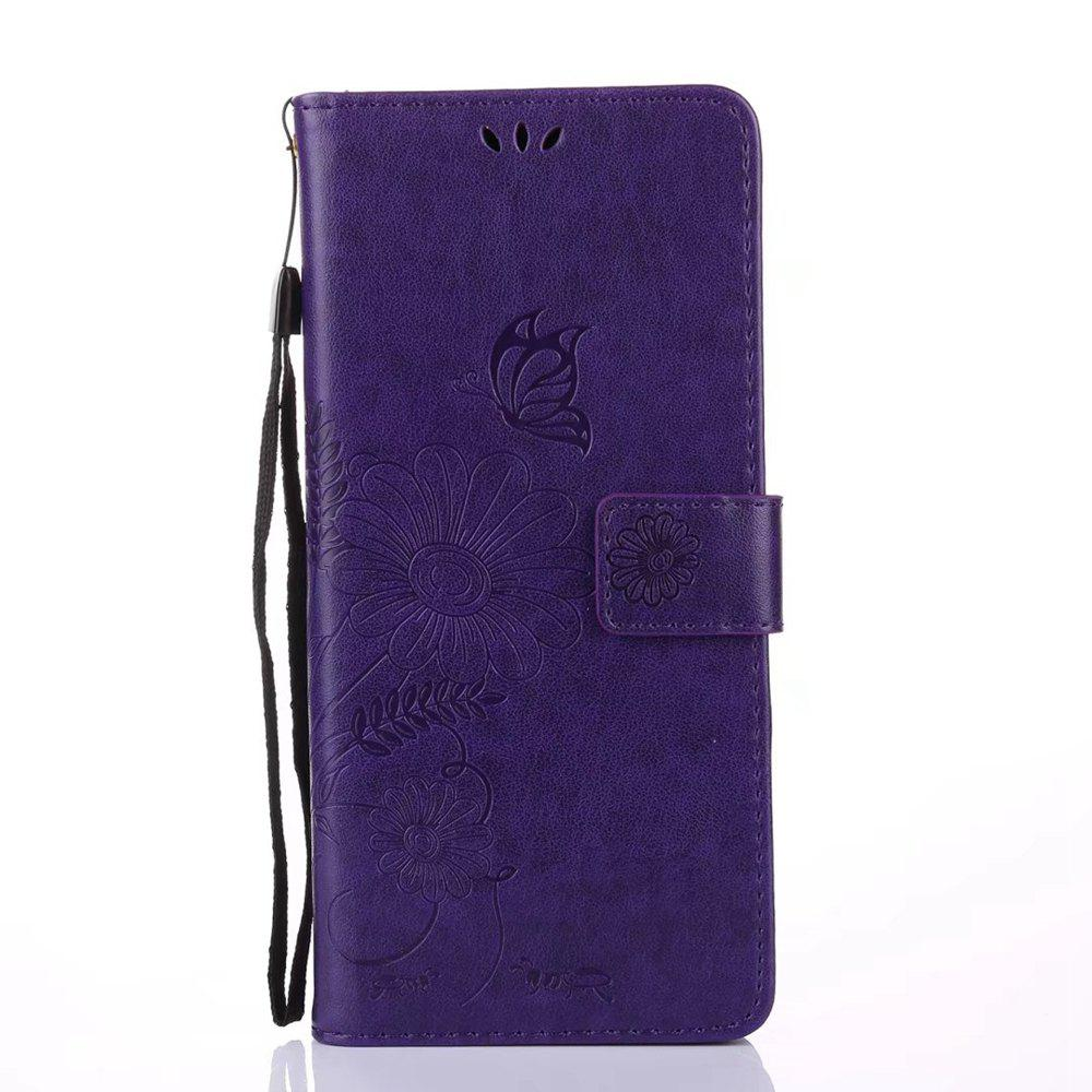 Chic Wkae Embossing Flowers PU Leather Case Cover with Lanyard and Card Slots for Samsung Galaxy Note 8