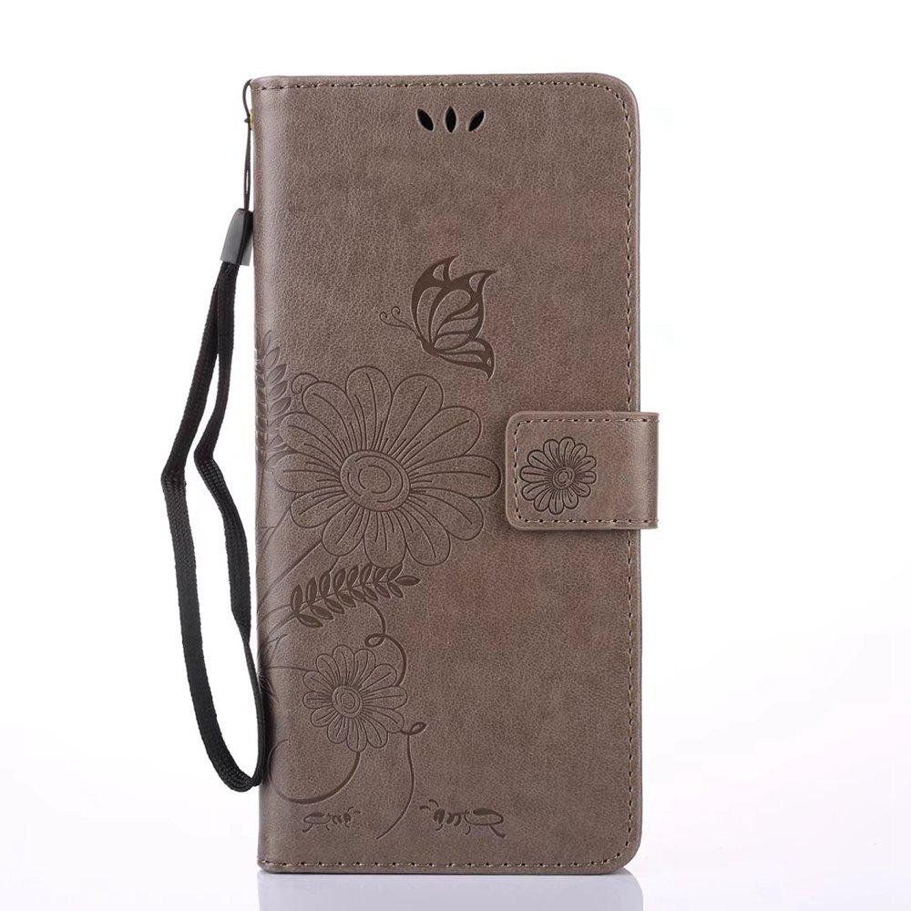 Fashion Wkae Embossing Flowers PU Leather Case Cover with Lanyard and Card Slots for Samsung Galaxy Note 8