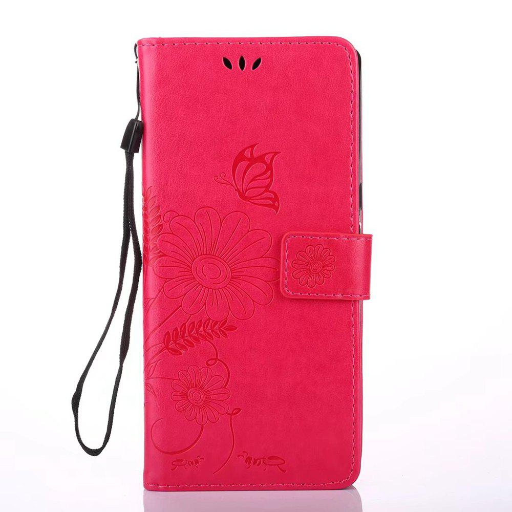 Unique Wkae Embossing Flowers PU Leather Case Cover with Lanyard and Card Slots for Samsung Galaxy Note 8