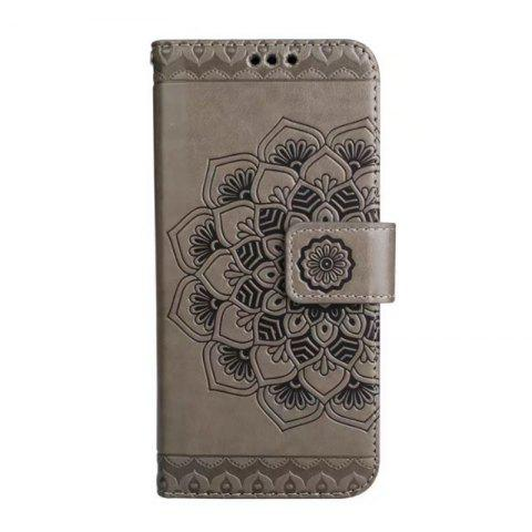 Chic WKae Half Flowers Embossed Pattern Premium PU Leather Wallet Pouch Case with Kickstand Lanyard and Card Slots for Samsung Galaxy S8 Plus