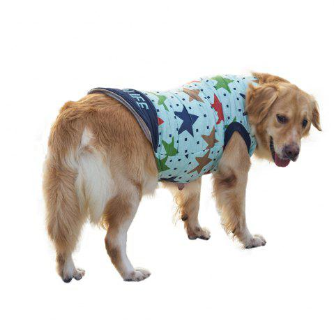 Discount Pet Dog Star Pattern Jacket Clothes - XS BLUEBELL Mobile
