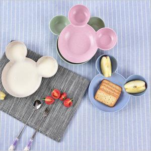 Cartoon Wheat Bowl of Children Straw Tableware Bowl Creative Baby Gift Taste Tray Fruit Tray -