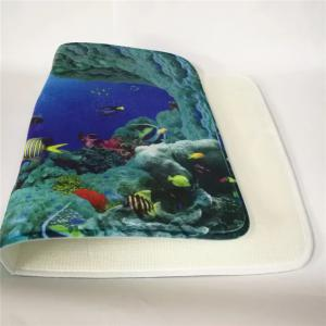 Western Style 3PCS Undersea World Toilet Seat cushion - BLUE