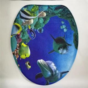 Coussin de siège de toilette de style occidental 3PCS Undersea World -