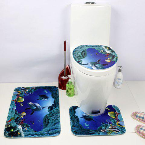 Coussin de siège de toilette de style occidental 3PCS Undersea World