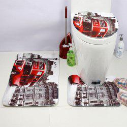 Western Style 3PCS City Landscape Toilet Seat Cushion -