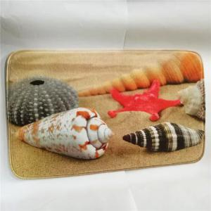 Western Style 3PCS Undersea World Shell Toilet Seat Cushion - COLORMIX