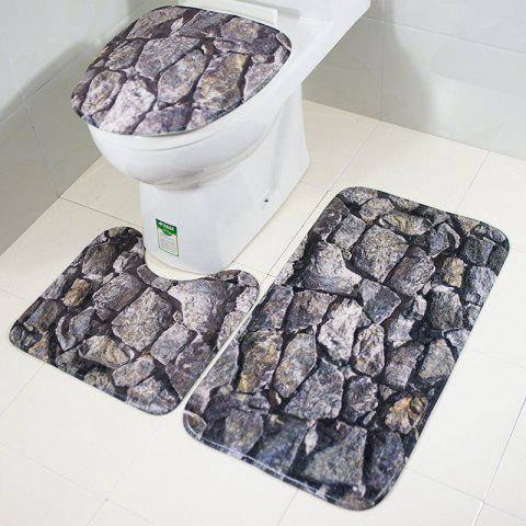 Online New Style 3PCS rock Printing Toilet Seat Cushion