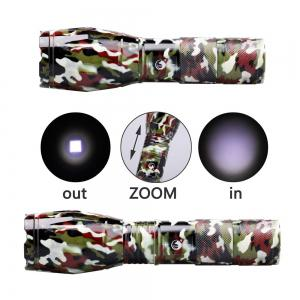 UKing Xml T6 1000LM 5 Mode Zoomable Camouflage Flashlight Torch -