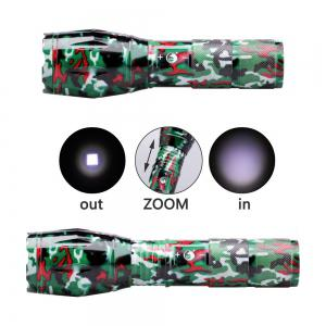 UKing Xml T6 1000LM 5 Mode Zoomable Camouflage Flashlight Torch - RED WITH BLACK