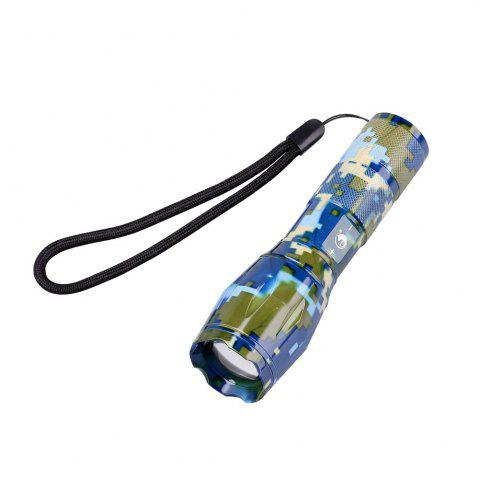 Outfits UKing Xml T6 1000LM 5 Mode Zoomable Camouflage Flashlight Torch - BLUE AND GREEN  Mobile