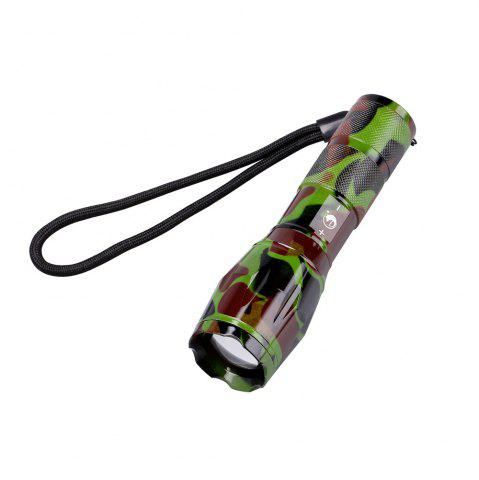 Cheap UKing Xml T6 1000LM 5 Mode Zoomable Camouflage Flashlight Torch - GREEN + BROWN  Mobile