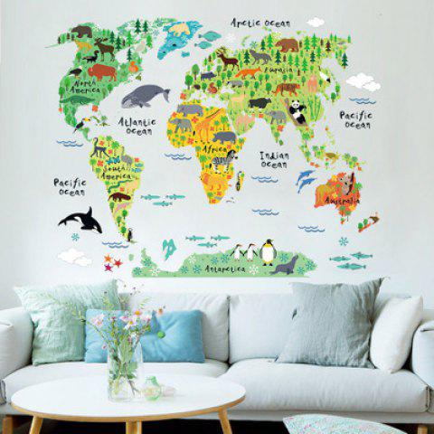 Best Yeduoworld Map Animals Wall Stickers Room Decorations Cartoon Mural  Art Zoo Children Home Decals Posters Part 42