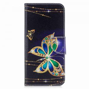Big Butterfly Painted Pu Phone Case для Samsung Galaxy S8 Plus -