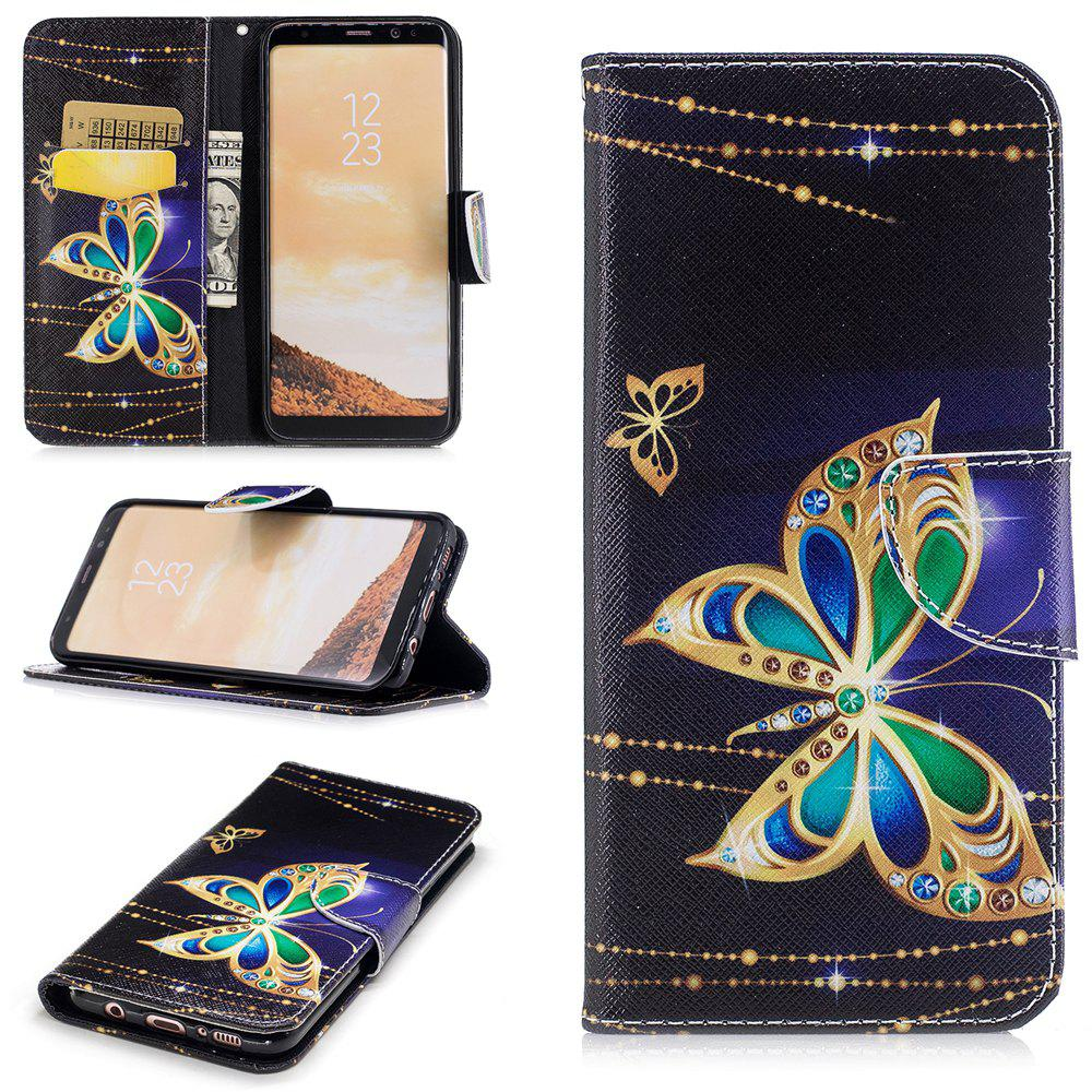 Unique Big Butterfly Painted Pu Phone Case for Samsung Galaxy S8 Plus