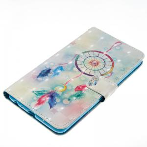 Feather Wind Chimes 3D Painted Pu Phone Case for Lg Stylus2 Ls775 -