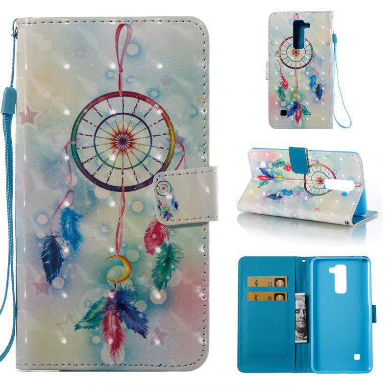 Best Feather Wind Chimes 3D Painted Pu Phone Case for Lg Stylus2 Ls775