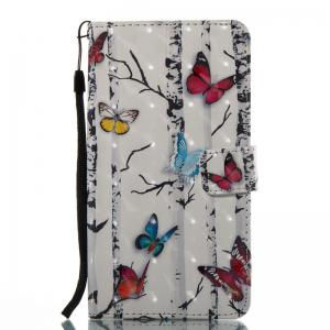 Butterflies 3D Painted Pu Phone Case for Lg Stylus2 Ls775 -