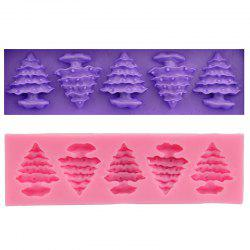Macroart 2 Pieces Cake Molds Cooking Utensils Bread Chocolate Cake Silica Gel Baking Tool DIY Christmas Tree - COLOR ASSORTED