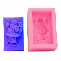 Macroart 2 Pieces Cake Molds Christmas Cooking Utensils Bread Chocolate Cake Silica Gel Baking Tool DIY - COLOR ASSORTED