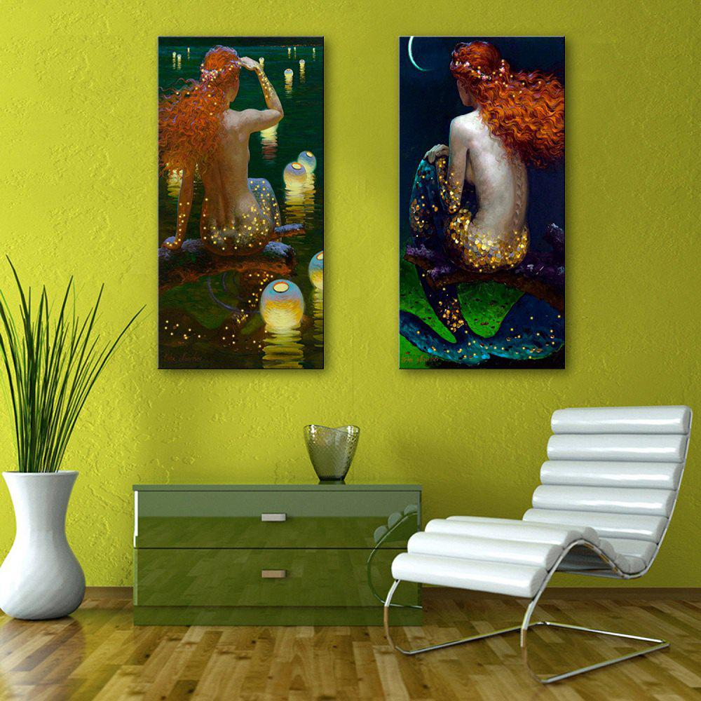 Gold/red 12 X 35 Inch (30cm X 90cm) Yc Stretched Led Canvas Print ...