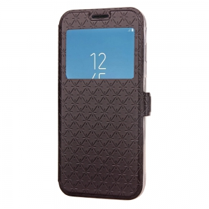 Yc Lingogwen Window Card Lanyard Pu Leather pour Samsung J530 -