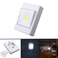 SUPli 1 LED COB Battery Operated Wireless Switch Night Lamp Closet Under Cabinet Bedside Wardrobe Lights -