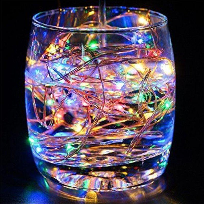 Outfits Supli 5M 50 LEDs USB Multi Colors Holiday String Lights Lamp Copper Wire Home Lighting