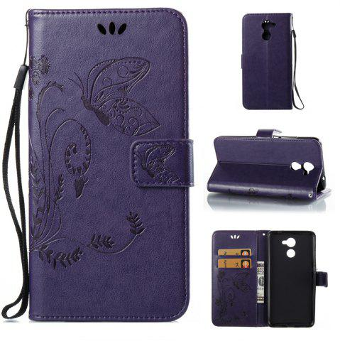 Online Wkae Flowers Embossing Pattern Pu Leather Flip Stand Case Cover for Huawei Y7 Prime And Y7