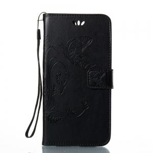 Wkae Flowers Embossing Pattern Housse en cuir PU Leather Flip Stand pour Huawei Hornor V9 -