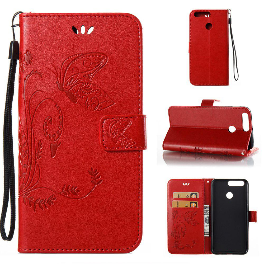 Wkae Flowers Embossing Pattern Housse en cuir PU Leather Flip Stand pour Huawei Hornor V9
