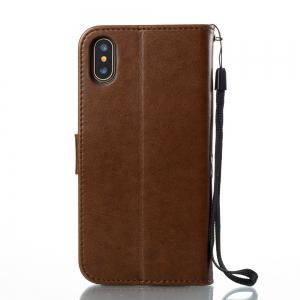 Wkae Flower Case Cover With Insert Card Slots for iPhone X -