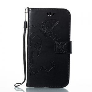 Wkae Flowers Embossing Pattern PU Leather Flip Stand Case Cover for MOTO C MC -